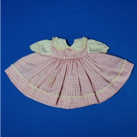 Alexander Baby Dress - Checked - Pink and White
